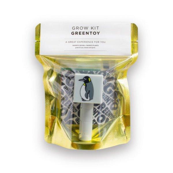 画像1: 【新パッケージ】グリーントイ・ペンギンファミリー(プチトマトのたね付き) (1)