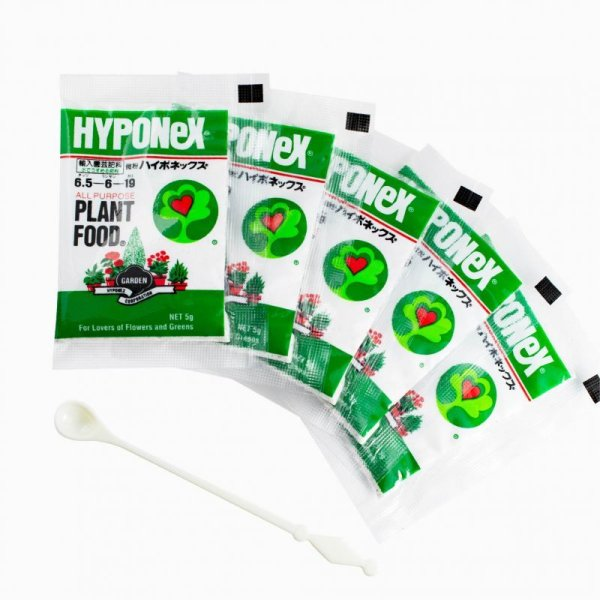 画像1: 【5個セット】ハイポネックス微粉肥料5g (肥料5個+計量スプーン1本付き) (1)